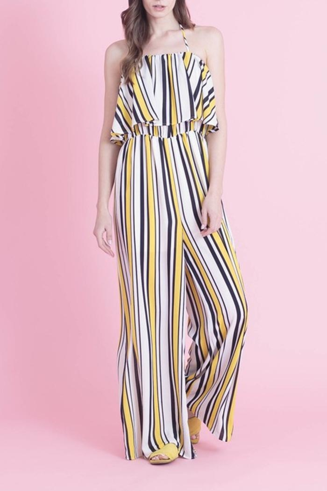 Love in  Classic Stripe Jumpsuit - Main Image