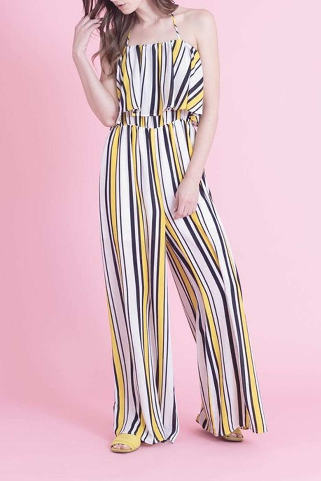 Love in  Classic Stripe Jumpsuit - Front Full Image