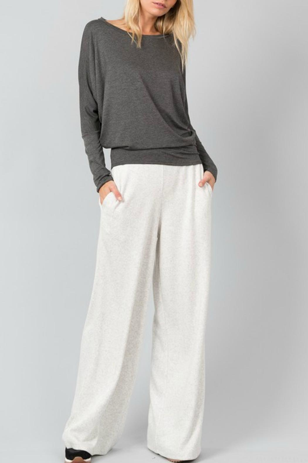 Love in  Fleece Pocketed Pants - Main Image