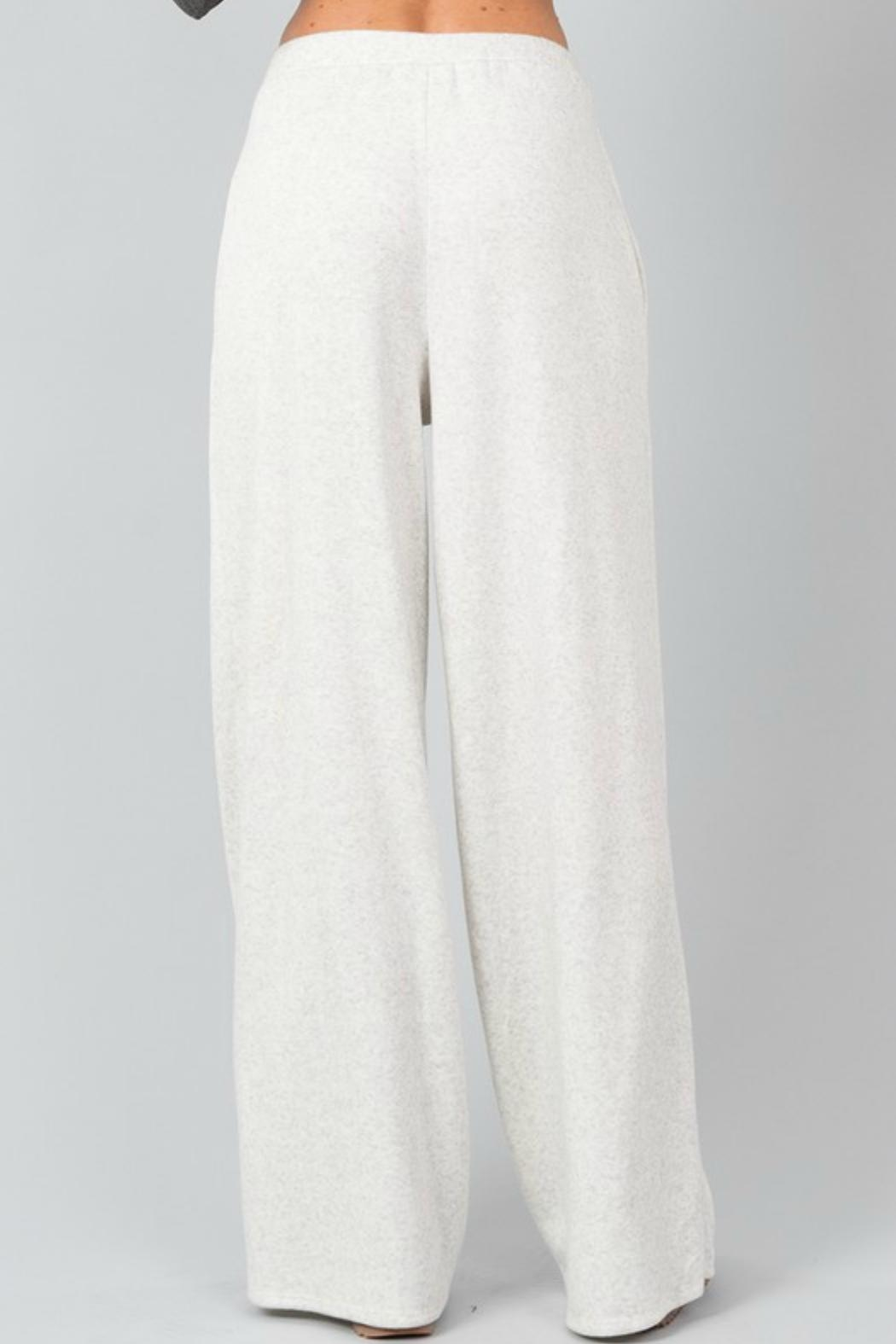 Love in  Fleece Pocketed Pants - Front Full Image