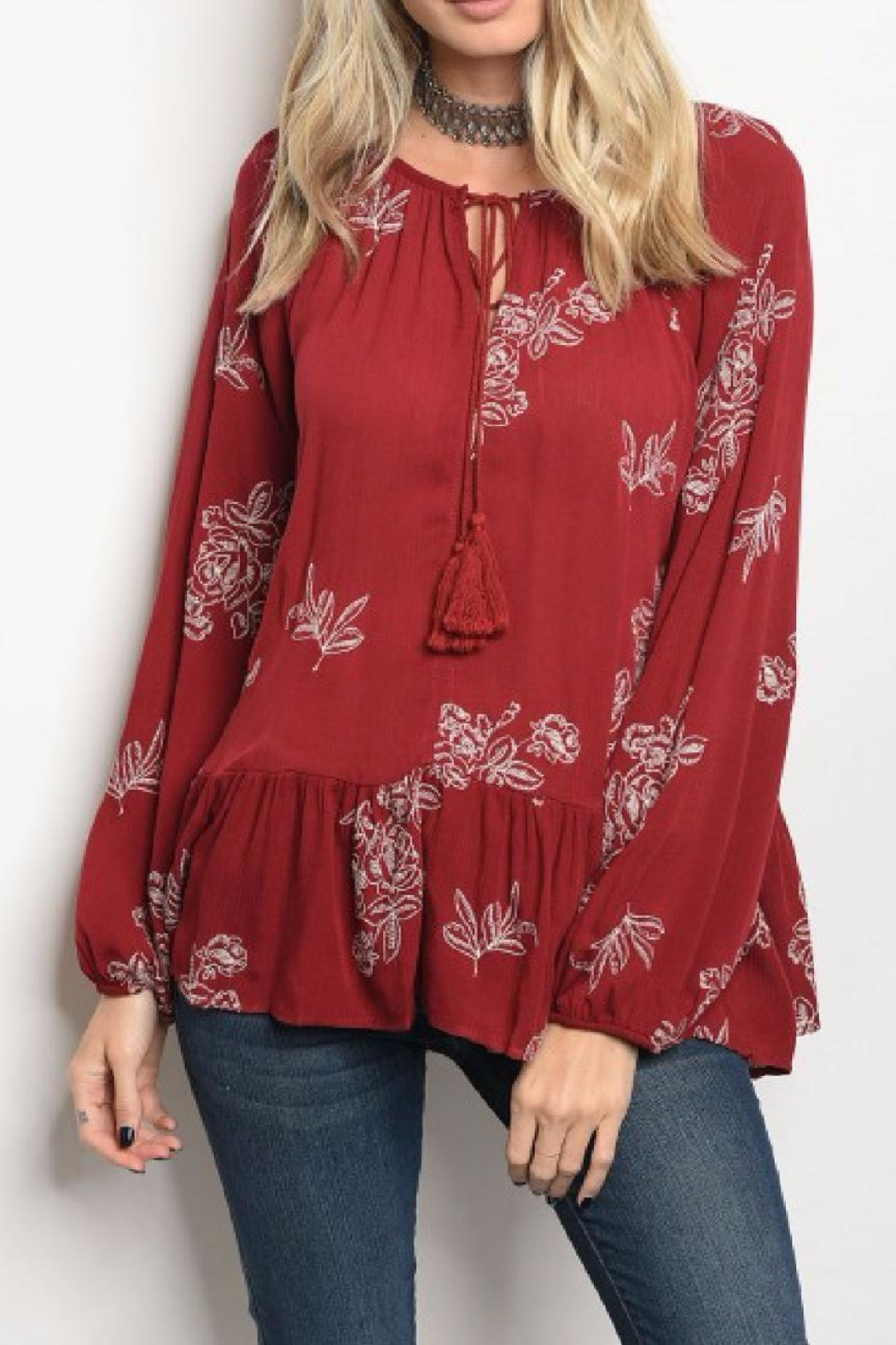 Love in  Floral Boho Top - Main Image