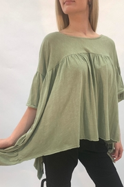 Love in  Green Babydoll Top - Product Mini Image