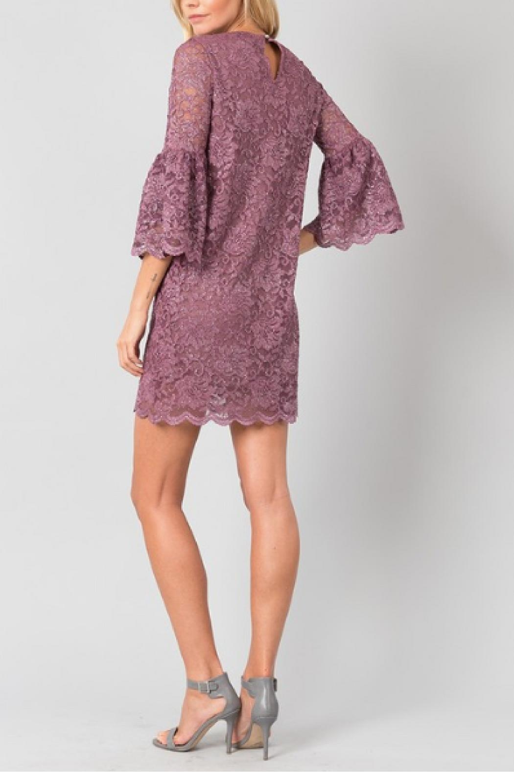 Love in  Mauve Glitter Dress - Side Cropped Image