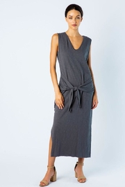 Love in  Midi-Dress With Front-Tie - Product Mini Image