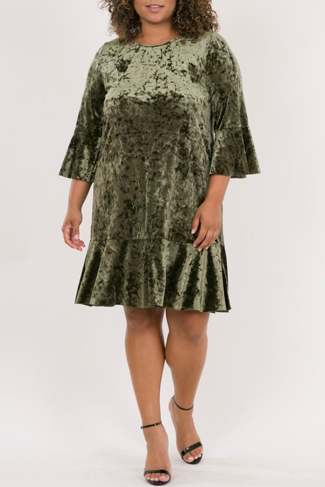 Love in  Olive Bell Sleeves - Main Image