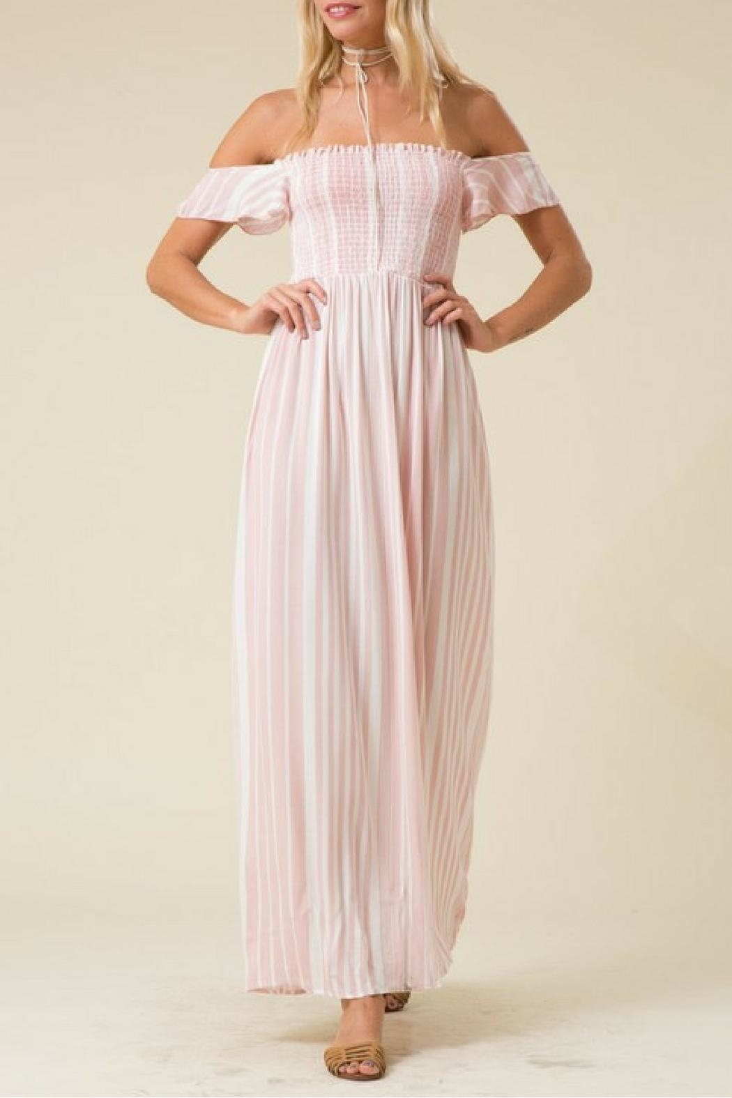 Love in  Pink Striped Maxi Dress - Main Image