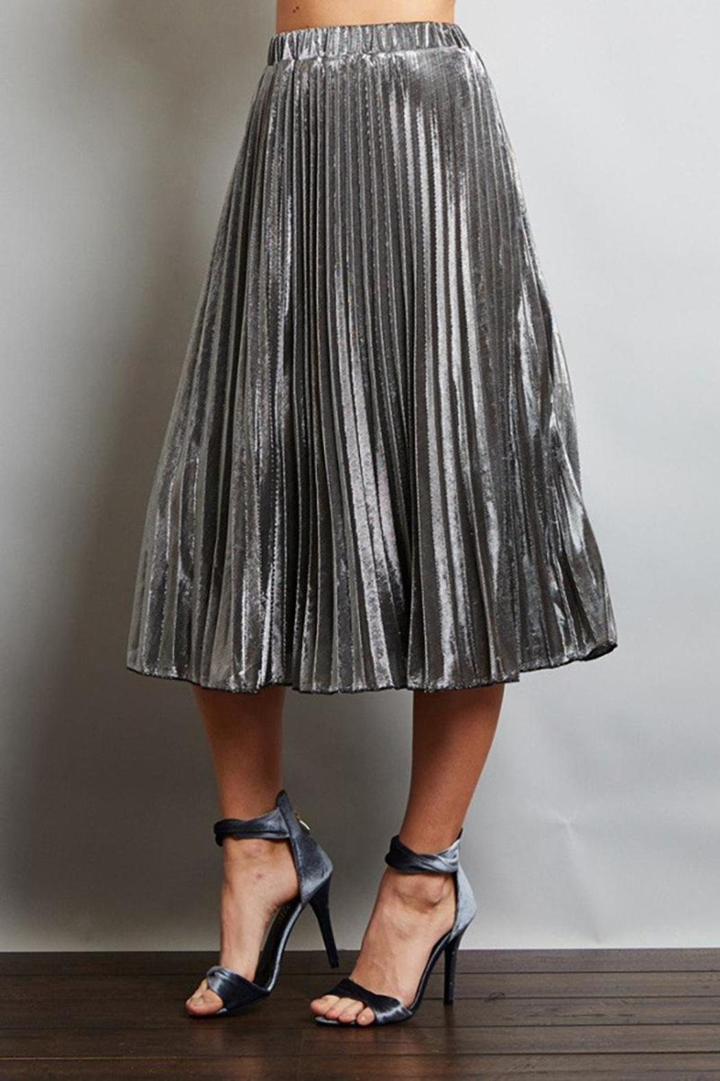 Love in  Pleated Midi Skirt - Front Full Image