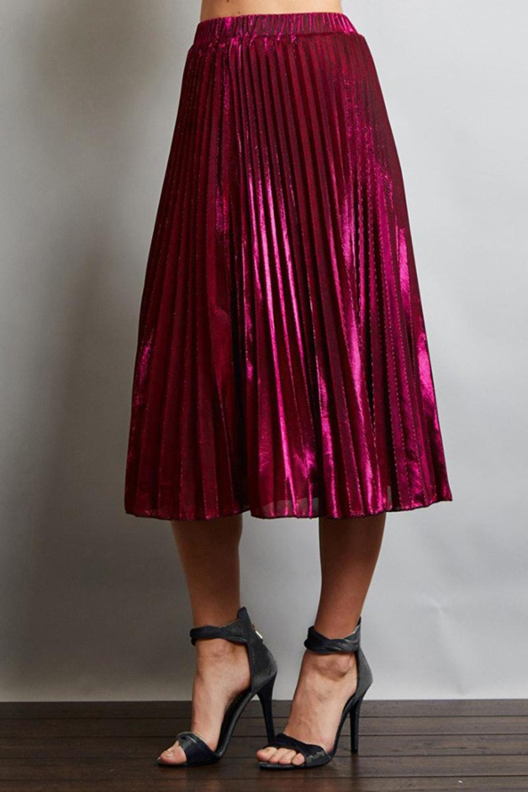 Love in  Pleated Midi Skirt - Side Cropped Image
