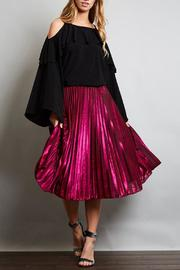 Love in  Pleated Midi Skirt - Front cropped
