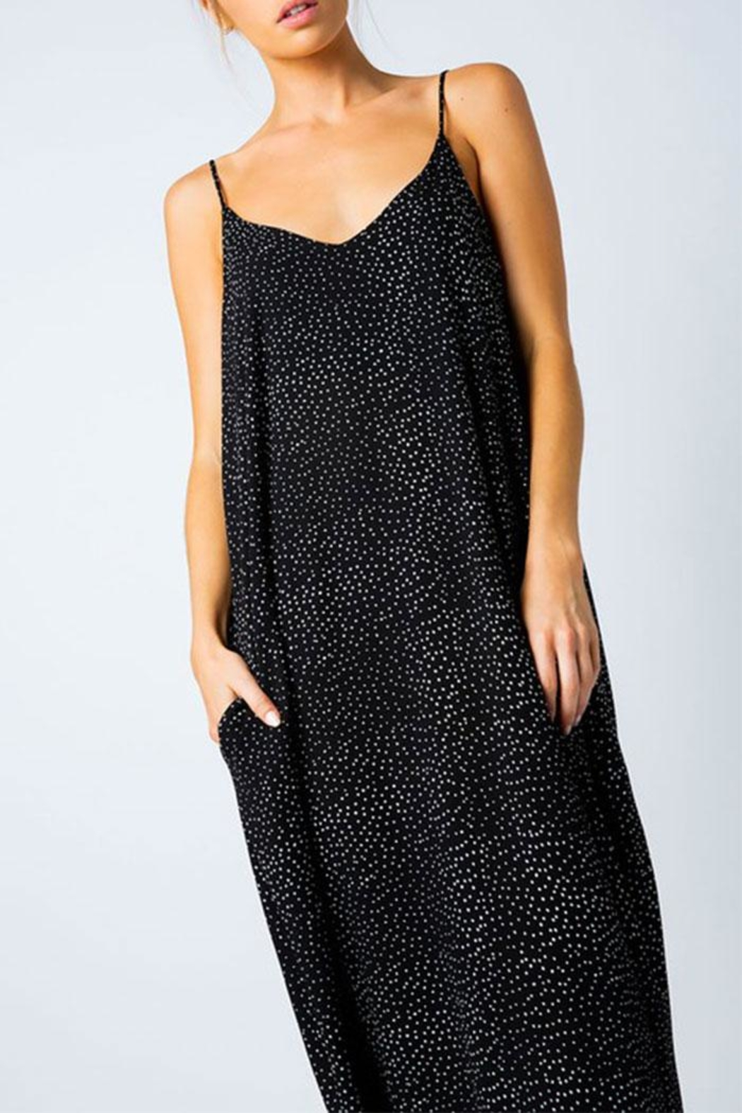 Love in  Polka-Dot Harem Maxi - Front Cropped Image