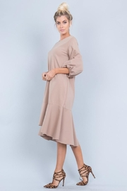 Love in  Ponti Ruffle Dress - Product Mini Image