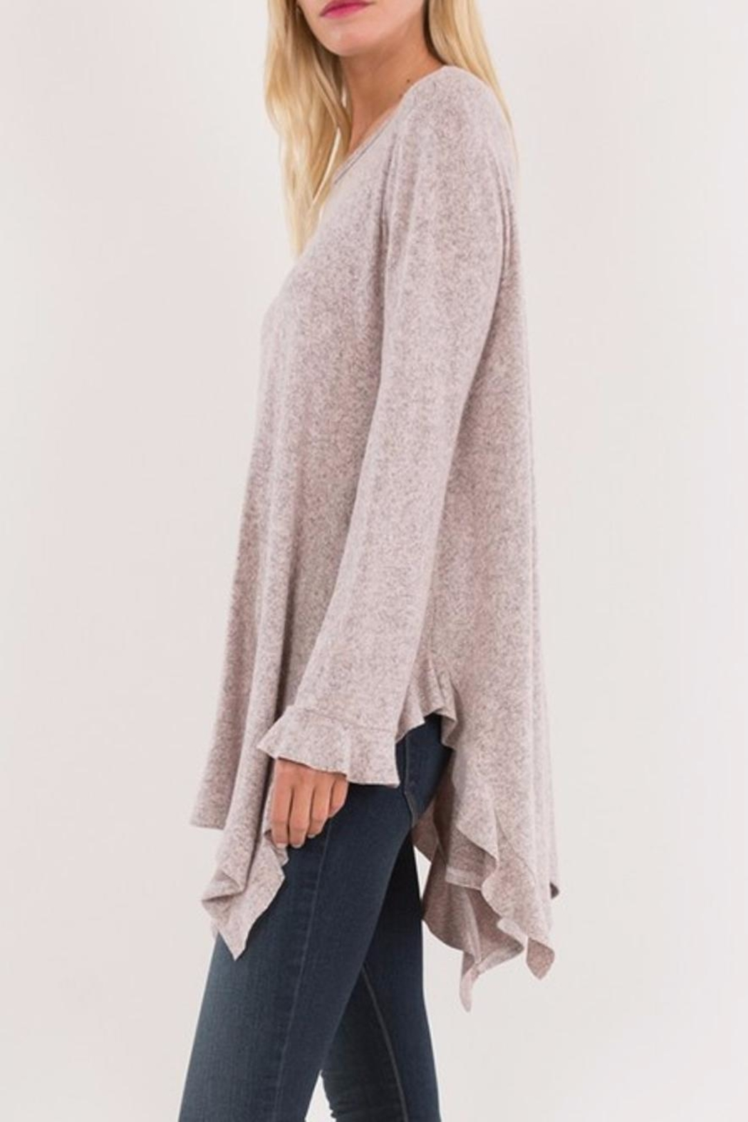 Love in  Ruffled Wrist Sweater - Side Cropped Image