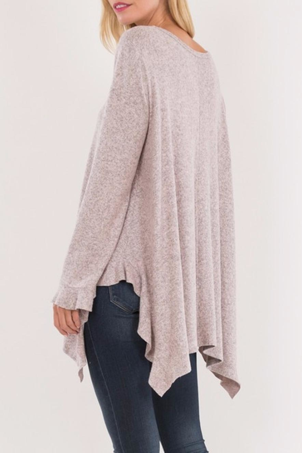 Love in  Ruffled Wrist Sweater - Back Cropped Image