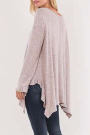 Love in  Ruffled Wrist Sweater - Back cropped