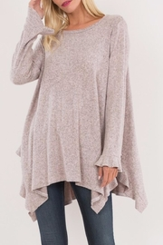 Love in  Ruffled Wrist Sweater - Front cropped