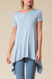 Love in  Sharkbite Tunic Top - Front cropped