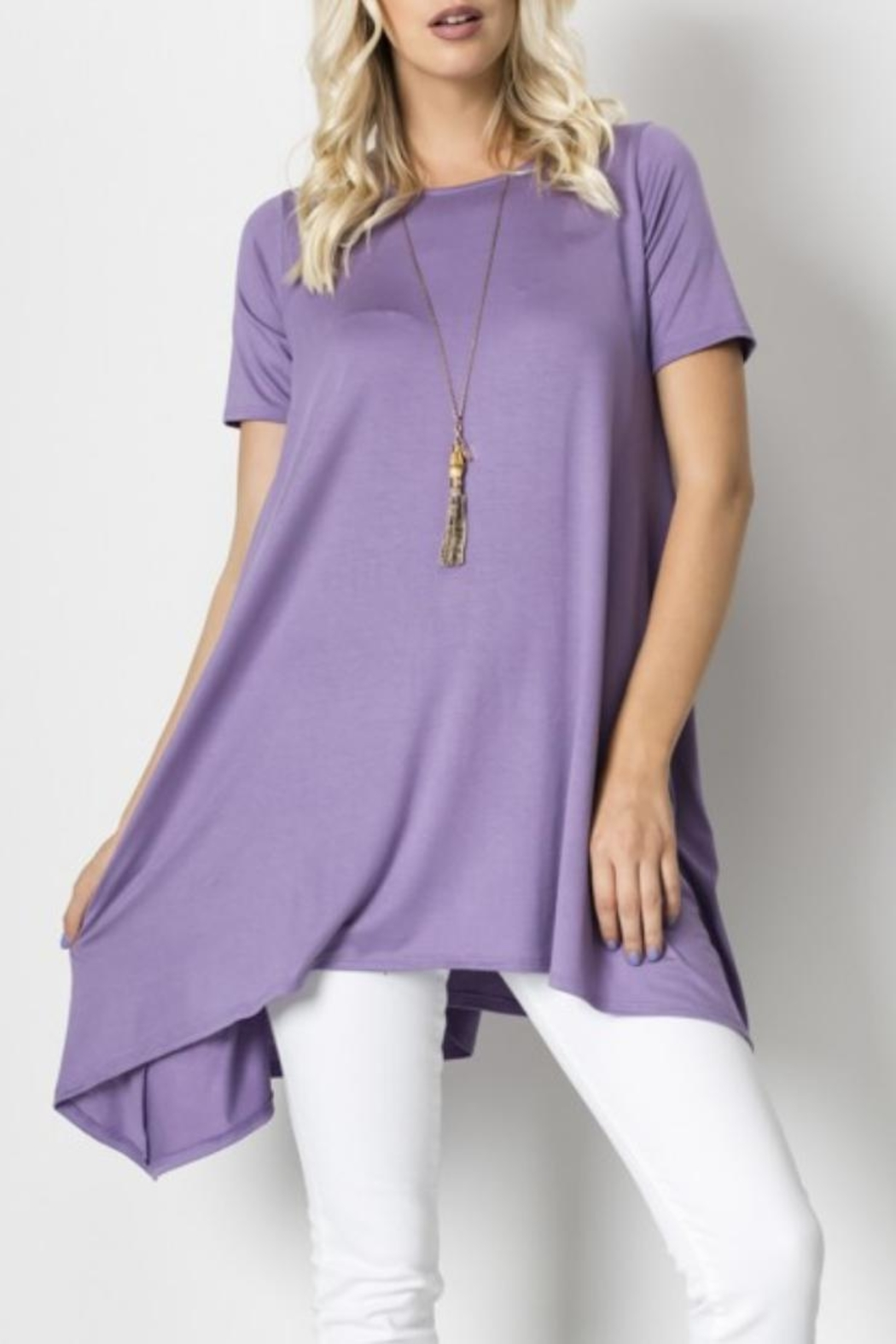 Love in  Sharkbite Tunic Top - Front Cropped Image