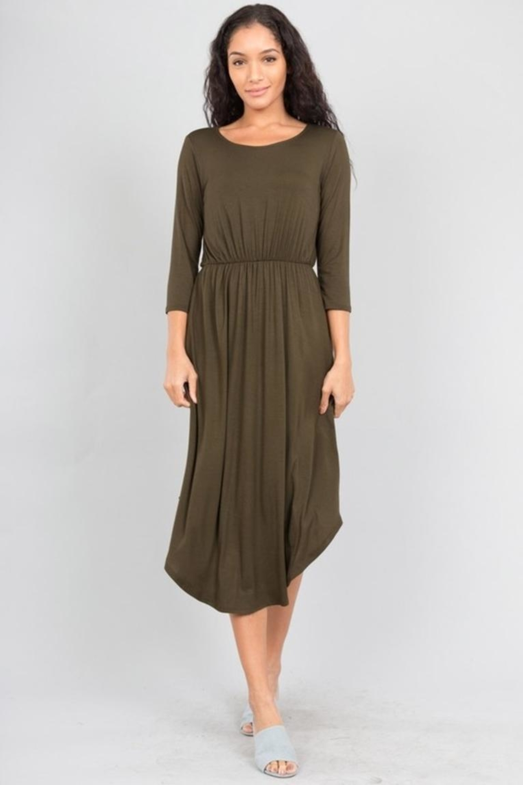 Love in  Shirttail Midi Dress - Front Full Image