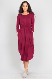 Love in  Shirttail Midi Dress - Front cropped