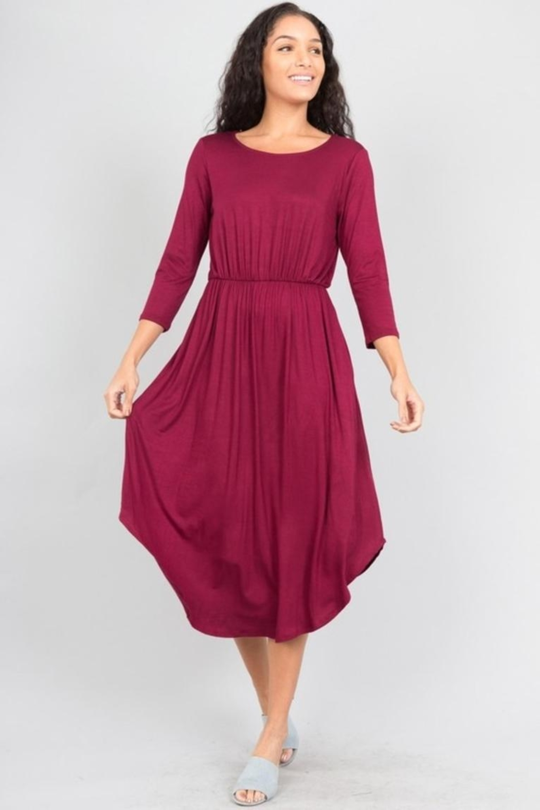 Love in  Shirttail Midi Dress - Side Cropped Image