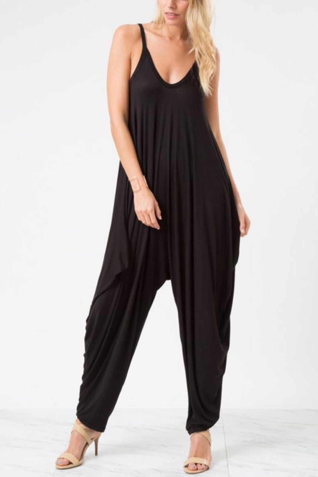 Love in  Sleeveless Harem Jumpsuit - Front Cropped Image