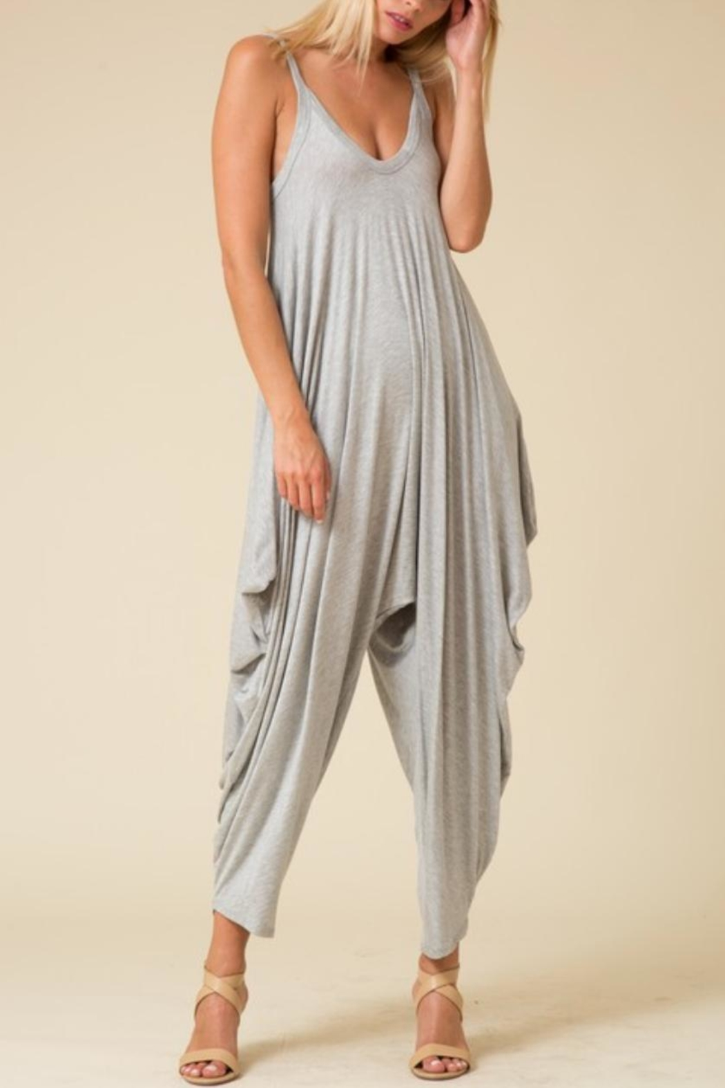 Love in  Sleeveless Harem Jumpsuit - Main Image