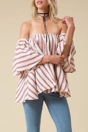 Love in  Stripe Off Shoulder Top - Product Mini Image