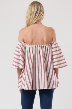Love in  Stripe Off Shoulder Top - Alternate List Image