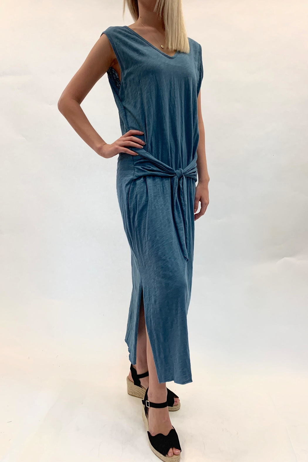 Love in  Tie Swing Maxi Dress - Front Cropped Image