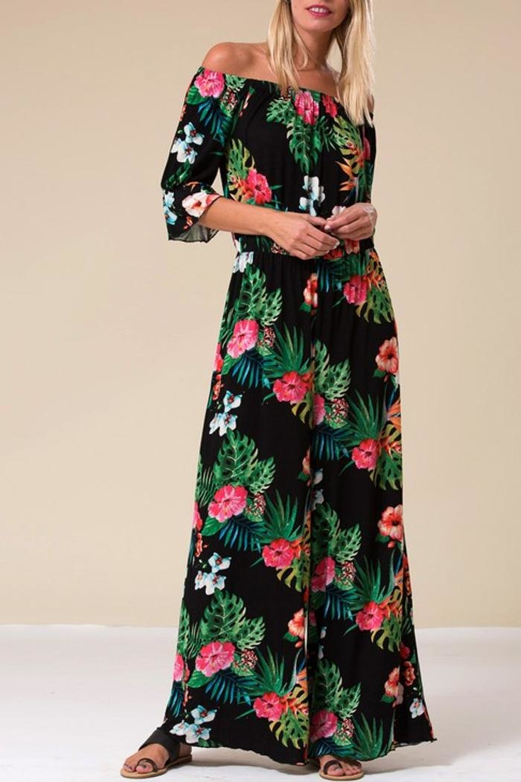 Love in  Tropical Palm Jumpsuit - Main Image