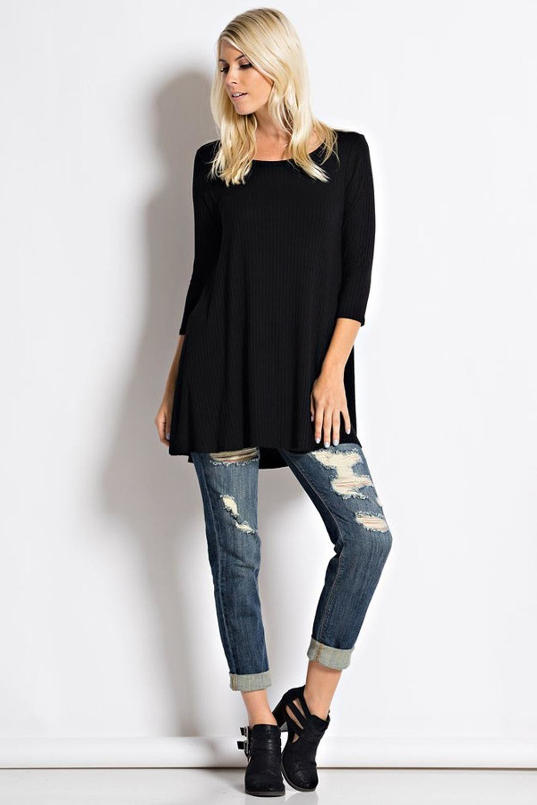 Love in  Usa Black Tunic - Front Cropped Image