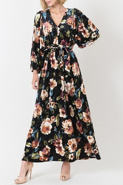 Shoptiques Product: Velvet Floral Maxi Dress