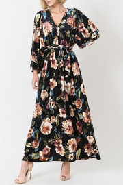 Love in  Velvet Floral Maxi Dress - Front cropped