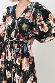 Love in  Velvet Floral Maxi Dress - Back cropped
