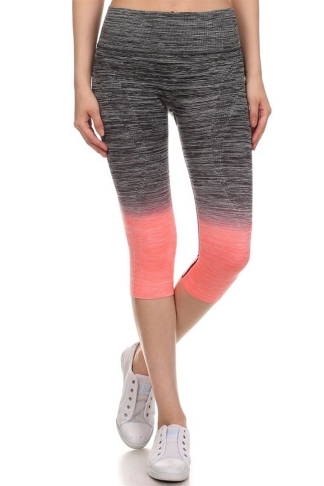 Love It Compression Yoga Leggings - Front Cropped Image