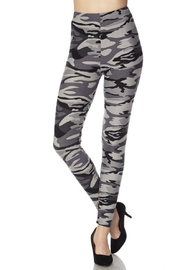 Love It Grey Camouflage Leggings - Front cropped