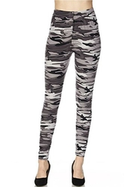 Love It Grey Camouflage Leggings - Product Mini Image