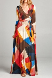 Love Kuza Abstract Venechia Wrap Dress - Product Mini Image