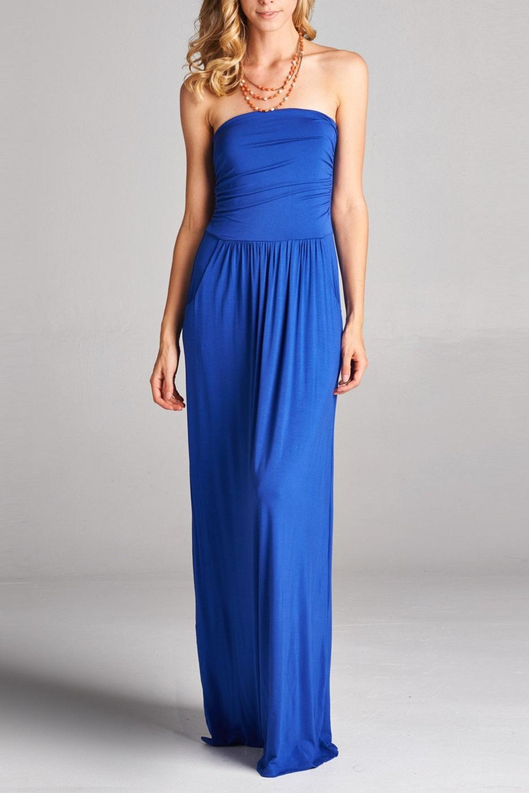 Love Kuza Casual Strapless Maxi Dress - Main Image
