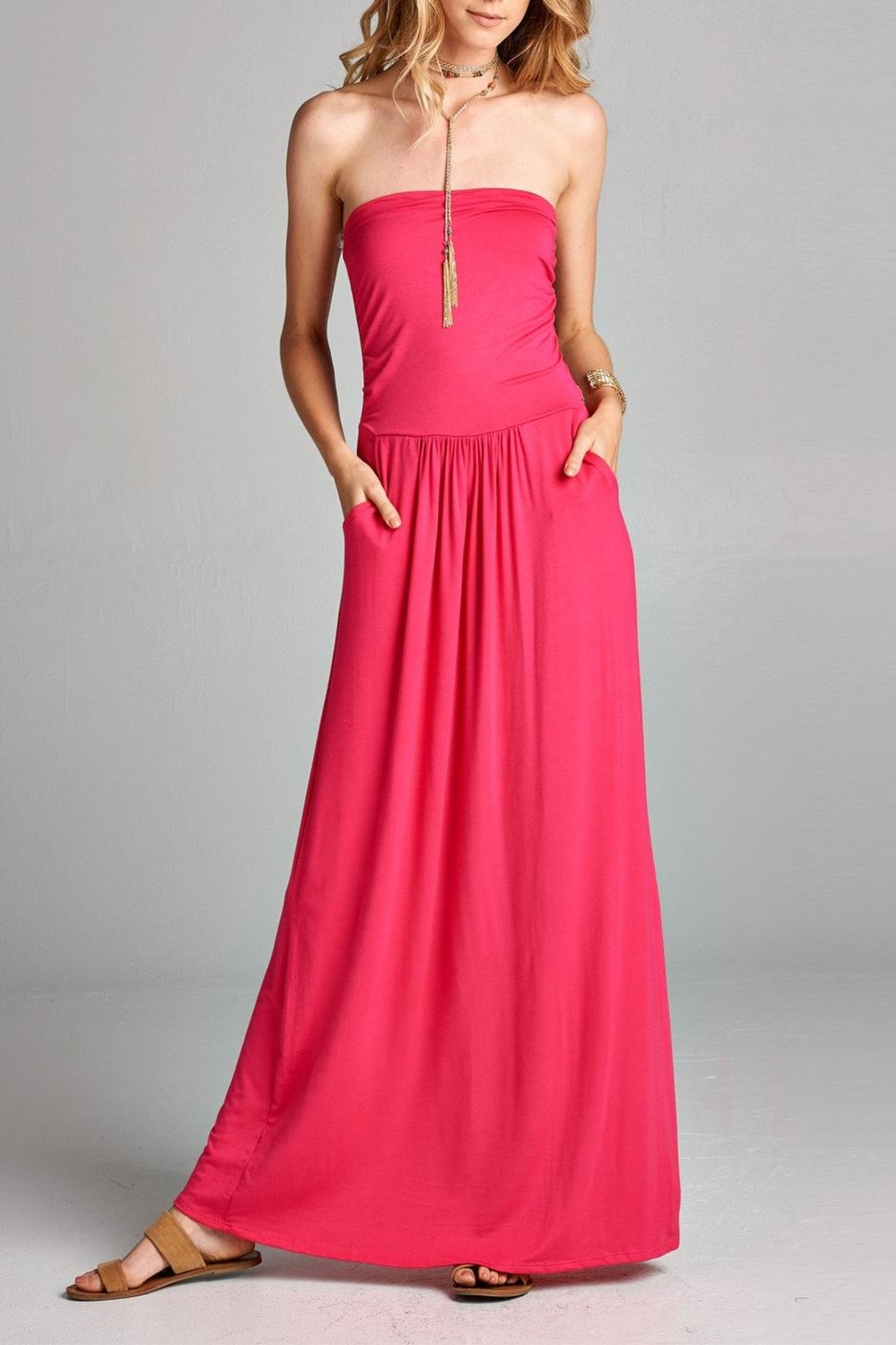 Love Kuza Casual Strapless Maxi - Main Image