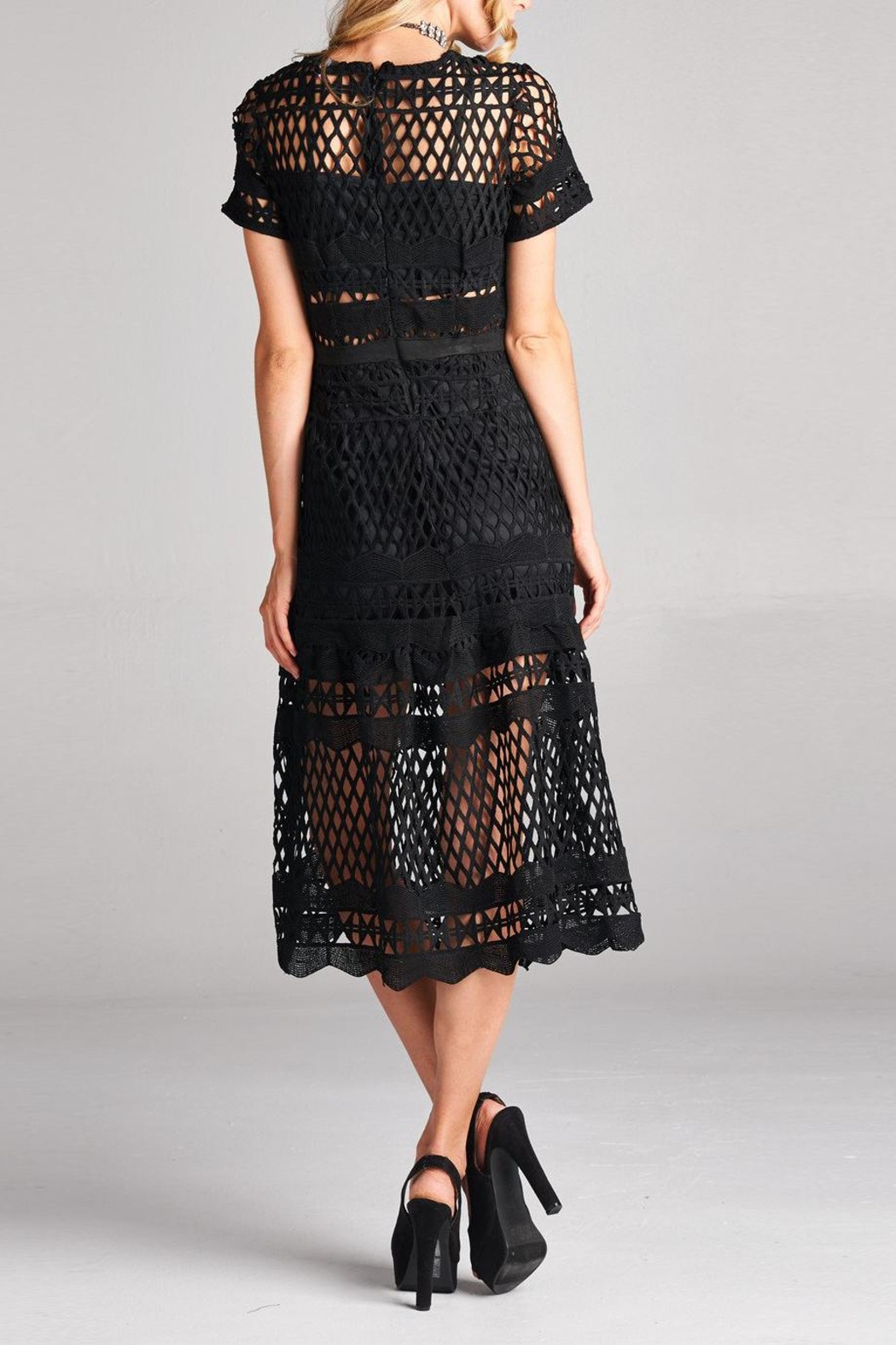 Love Kuza Cotton Lace Midi Dress - Side Cropped Image