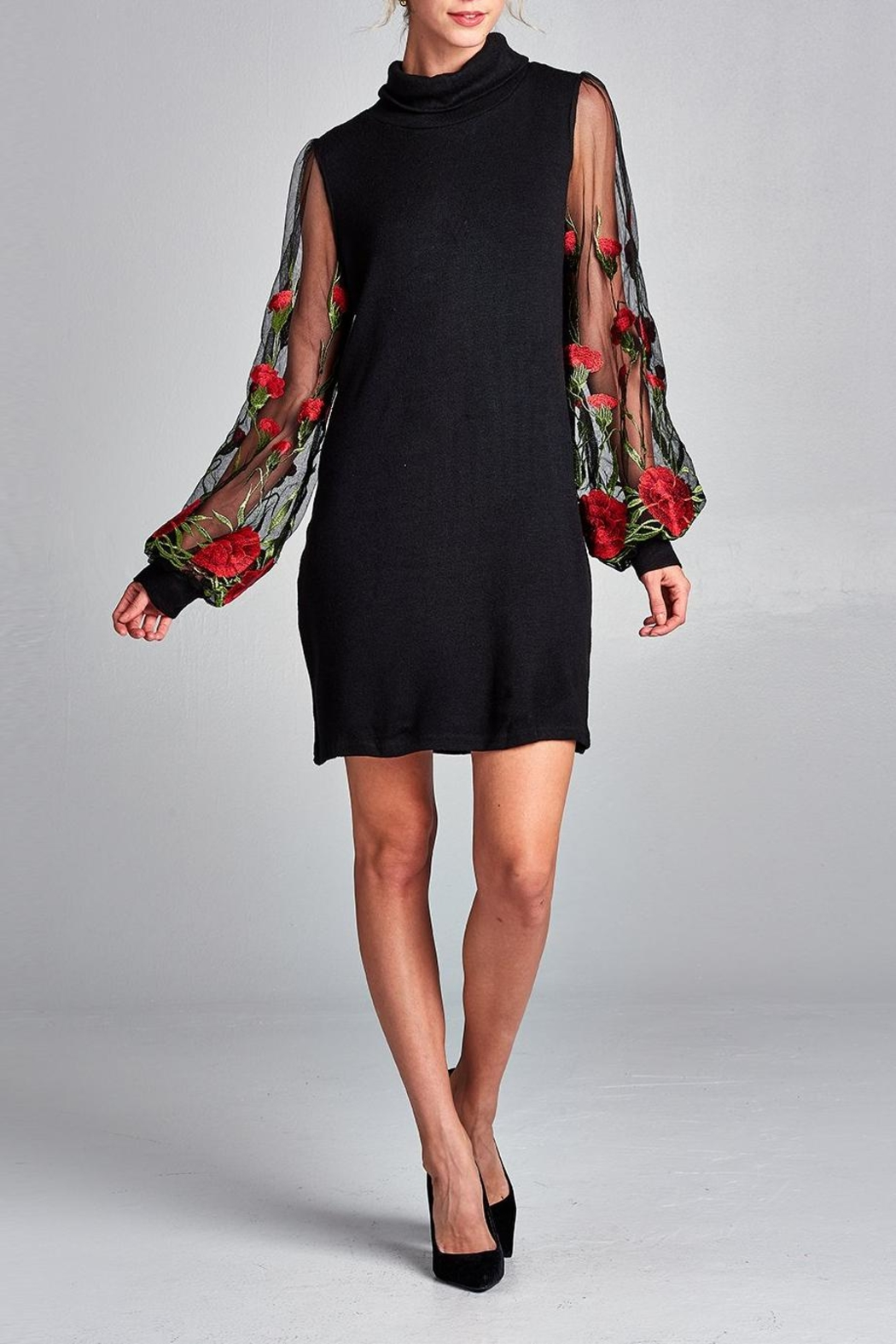 Love Kuza Embroidered Floral Dress - Front Full Image