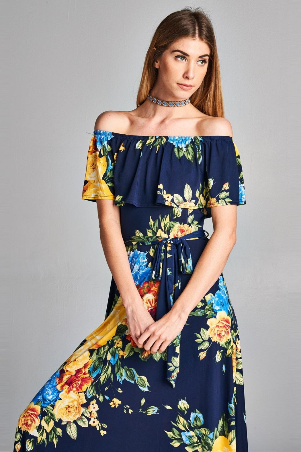 Love Kuza Floral Roses Maxi - Front Cropped Image