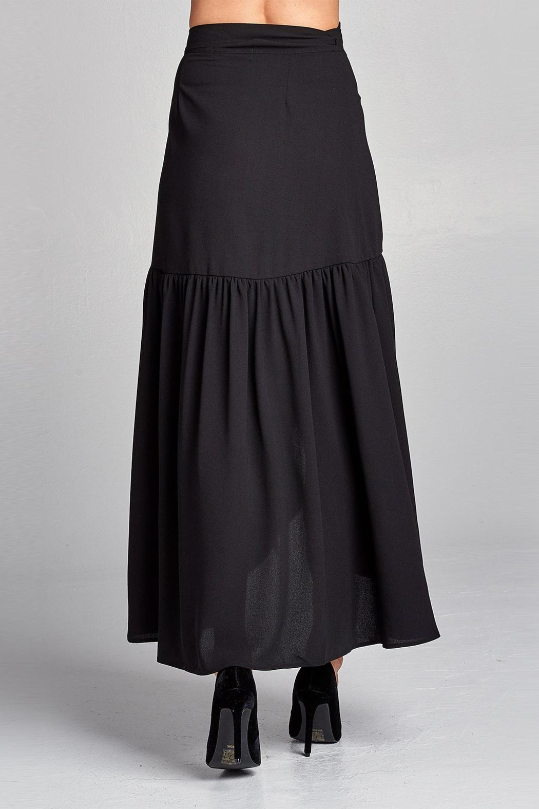 Love Kuza Frilled Wrap Skirt - Back Cropped Image