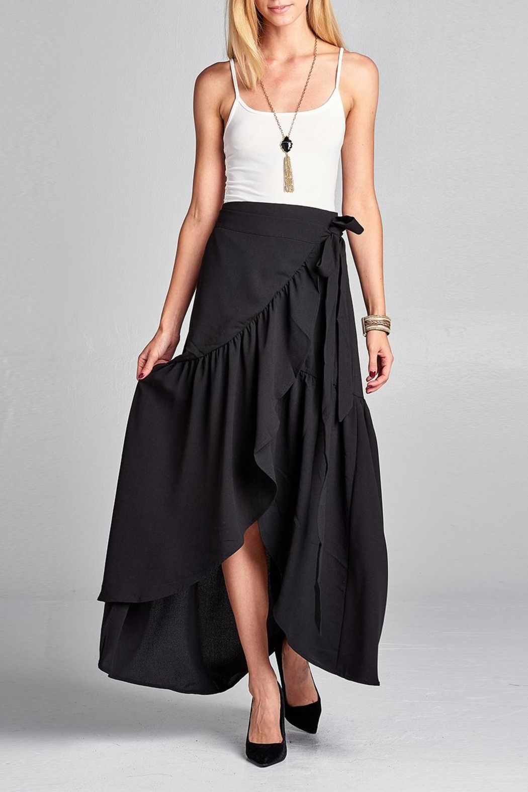 Love Kuza Frilled Wrap Skirt - Front Full Image