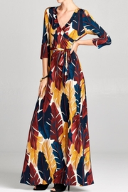 Love Kuza Palmleaf Wrap Dress - Product Mini Image
