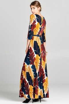 Love Kuza Palmleaf Wrap Dress - Alternate List Image