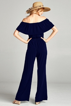 Love Kuza Ruffle Off the Shoulder Jumpsuit - Alternate List Image