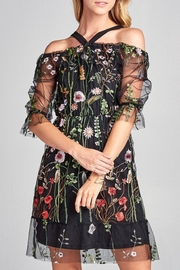 Love Kuza Sheer Floral Laced Dress - Product Mini Image