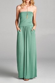Love Kuza Strapless Casual Maxi Dress - Front cropped